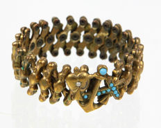 Victorian bracelet with turquoise