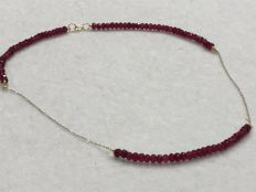 18 kt Gold and Ruby Necklace