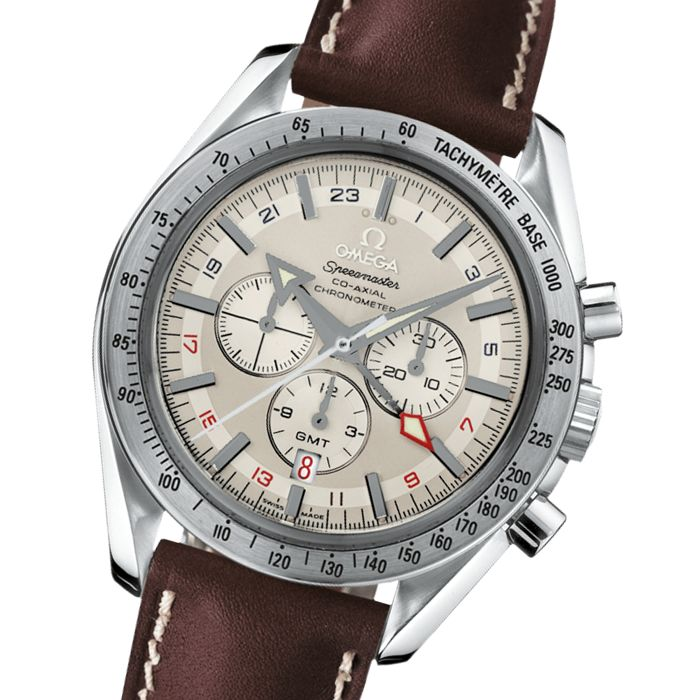 Omega Speedmaster Co-Axial GMT Broad Arrow ref. 38813037 Automatic Men´s Chronograph - 2017