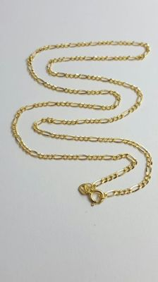 14 K Yellow Hollow Gold Chain - 45 cm