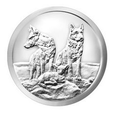 USA - 1 oz Silver Round Bullet Silver Shield - Aware and Prepared - 2015 - Wolves