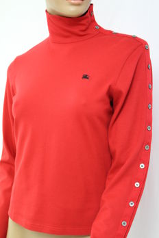 Burberry London - Red Turtleneck Blouse