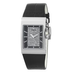 Dolce & Gabbana – elegant women's watch – decorated with Swarovski crystals, new, black.