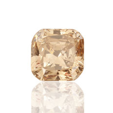 1.17 ct cushion cut diamond Fancy Orangey Brown  Natural colour I1  **LOW RESERVE PRICE**