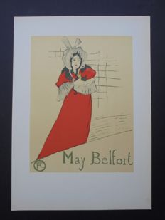 Toulouse Lautrec -  'May Belfort' Llithograph