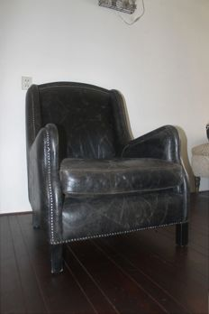 Leather armchair, second half 20th century