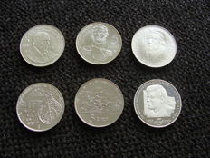San Marino – 5 Euro 2004/2013 (6 different coins) – silver