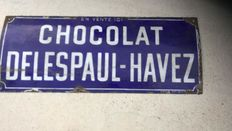 Enamelled plate Delespaul Havez Chocolate