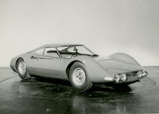 Ferrari Dino Berlinetta Special  1966 original black and white Pininfarina press photograph 16cm x13cm