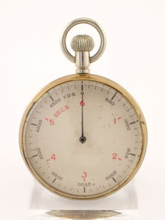 Anonymous stop watch / pocket watch, 1/10 second, British military, around 1900