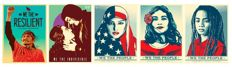 Shepard Fairey (OBEY) + Ernesto Yerena + Jessica Sabogul - We The People Set of 5 Prints