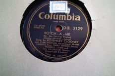 22 PCs 78 rpm records 10 inch with covers, well-known artists from the past