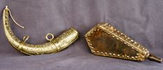 2 large powder gourds - Middle of the 20th century