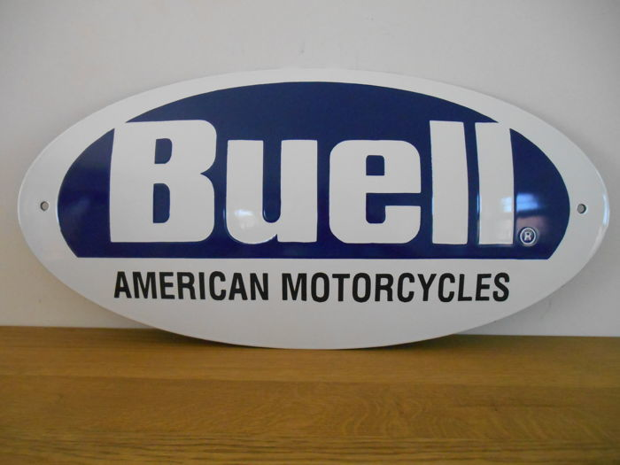 Enamel sign of Buell Motorcycles - ca. 2000