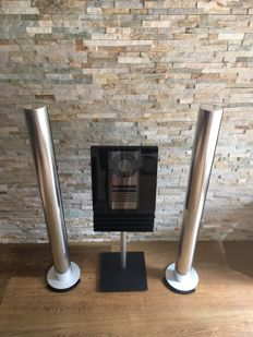 Bang and Olufsen - Beocenter 2300 with WiFi wireless streaming module + rare stand + a nice pair of Silver Beolab 6000  active speakers