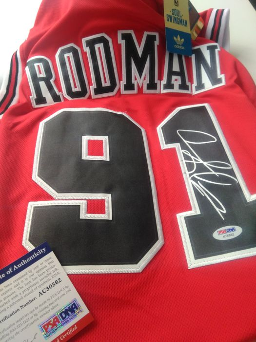 brand new 44080 01417 Dennis Rodman - Signed Chicago Bulls jersey with COA ...