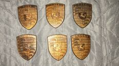 Lot of Porsche emblems - 6x
