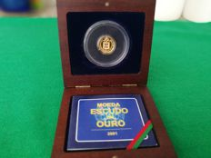 Portugal – 1 Escudo in Gold – Last Escudo – 2001