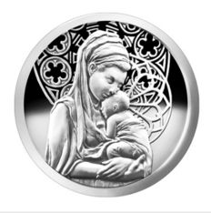USA - 1 oz silver round bullet silver shield - PEACE - 2015 - Mary and Jesus