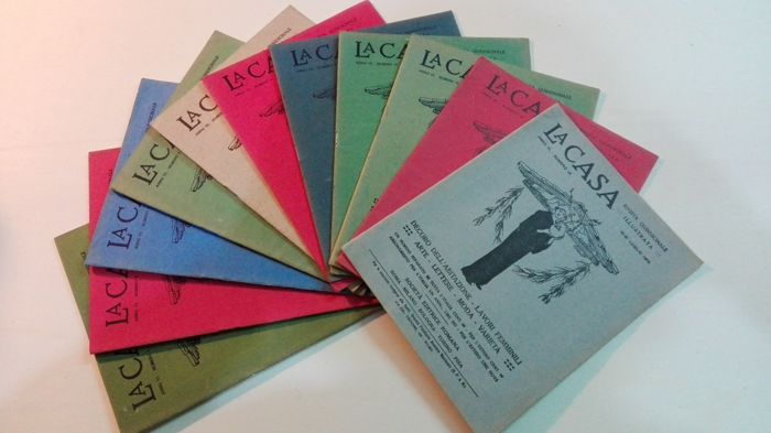 La Casa. Semimonthly illustrated magazine - 91 volumes 1908/1913