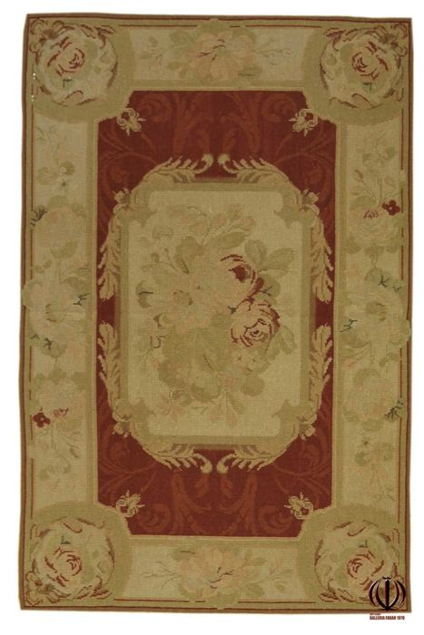 (Size: 153 x 91 cm) Exceptional needlepoint rug – Floral design – Very elegant – Aubusson – 100% handmade – Circa 1970-1980 (Galleria Farah 1970)