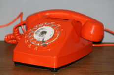 Rare Orange ptt - socotel s63 telephone