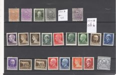 Italy 1920/1930, small lot on stock card