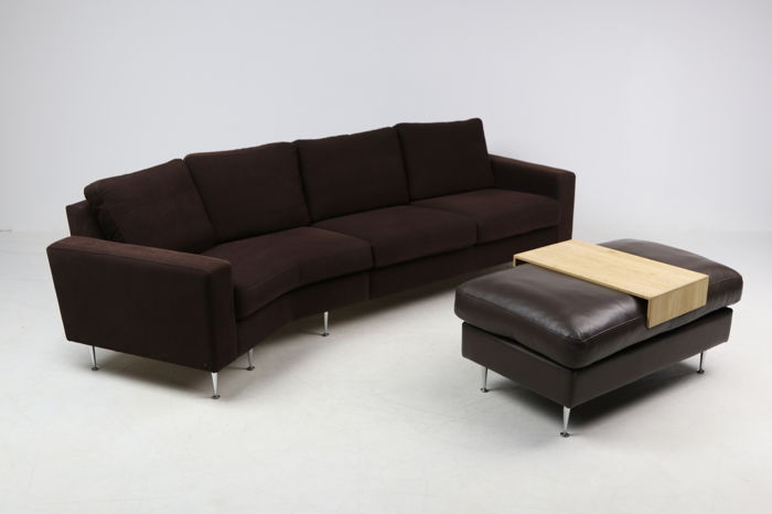 Hurup - designer sofa with footstool/side table