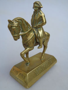 Bronze sculpture of Napoleon Bonaparte on horseback - Belgium - 1st half 20th century.