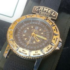 Camel Trophy WATCH GMT GREENWICH MEAN TIME Men's wristwatch