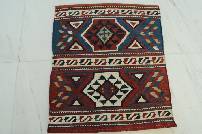 Lovely Mafrash flatweave, Schirwan, antique, ca. 59 x 51 cm