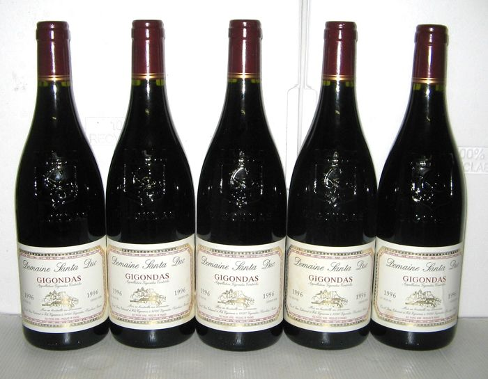 1996 Gigondas, Domaine Santa-Duc – Lot of 5 bottles