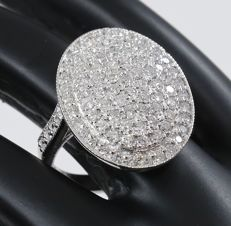 IGI certified Very Exclusive White Gold Diamond Ring - 2.22 ct. - no reserve price