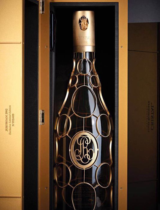 "2002 Cristal Louis Roederer ""Gold Medallion"" 24-carat gold limited edition - jeroboam (3ltrs)"