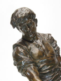 Emile Picault (1833-1915) - bronze sculpture 'Le Minerai' - France - end of 19th century
