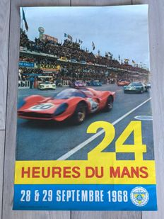 Original poster of the 24 hours of Le Mans 1968