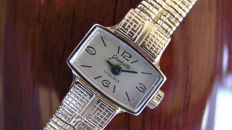 Glashutte – GUB –  Woman's watch – 1970 – vintage – Gold plated 20 micron