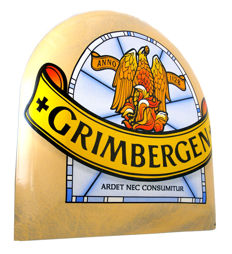 Enamel advertising sign Grimbergen from the 1990s