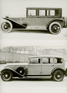 4 Lancia Lambda and Astura period press photographs 21cm x16cm