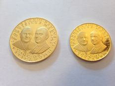 Vatican - lot of 2 medallions 'Concilio Ecumenico Vaticano II' (Second Vatican Ecumenical Counsel) - gold