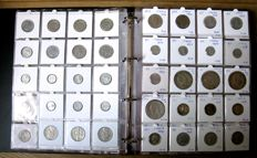 Italy - Centesimo up to and including 1000 Lire 1861/1999 (336 different ones) including  25 x silver in luxurious album