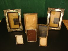 Photo Frame Lot - Mostly Silver Plated