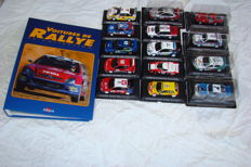 Altaya - Scale 1/43 - Lot with 14 rally cars and Album with details and historic on each of the 14 proposed cars - language: French
