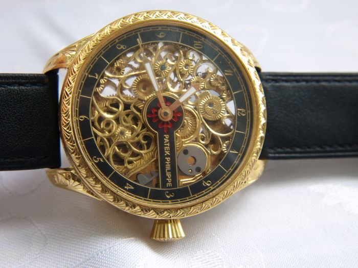49 Patek Philippe skeletal marriage wristwatch
