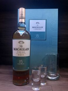 Macallan 15 Year Old Fine Oak Gift Set with 2 glasses and a Carafe