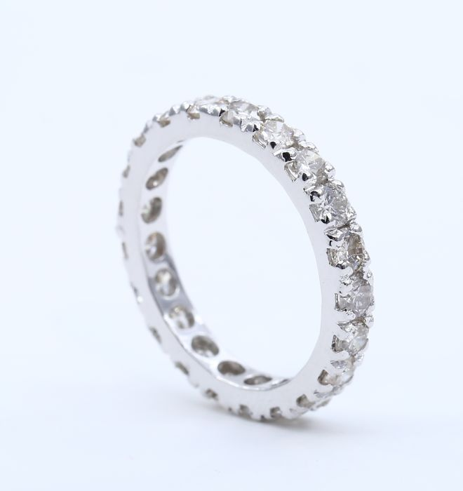 Eternity Diamond ring – 2.46 ct  - Ring size – 17 NL and 54 French