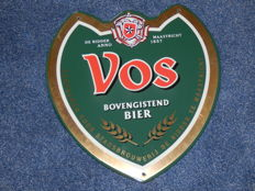 Nice enamel sign for Vos Bier from Maastricht - 2nd half 20th century.