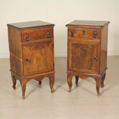 Pair of late-Baroque nightstands - Veneto (Italy) - mid 18th century