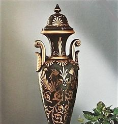 SC3 Ceramic Floor Vase with 24 Carat Gold Inlay