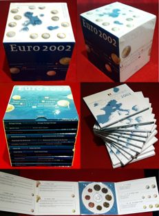 EURO – Complete collection of the 12 Countries that started with the Euro - 2002